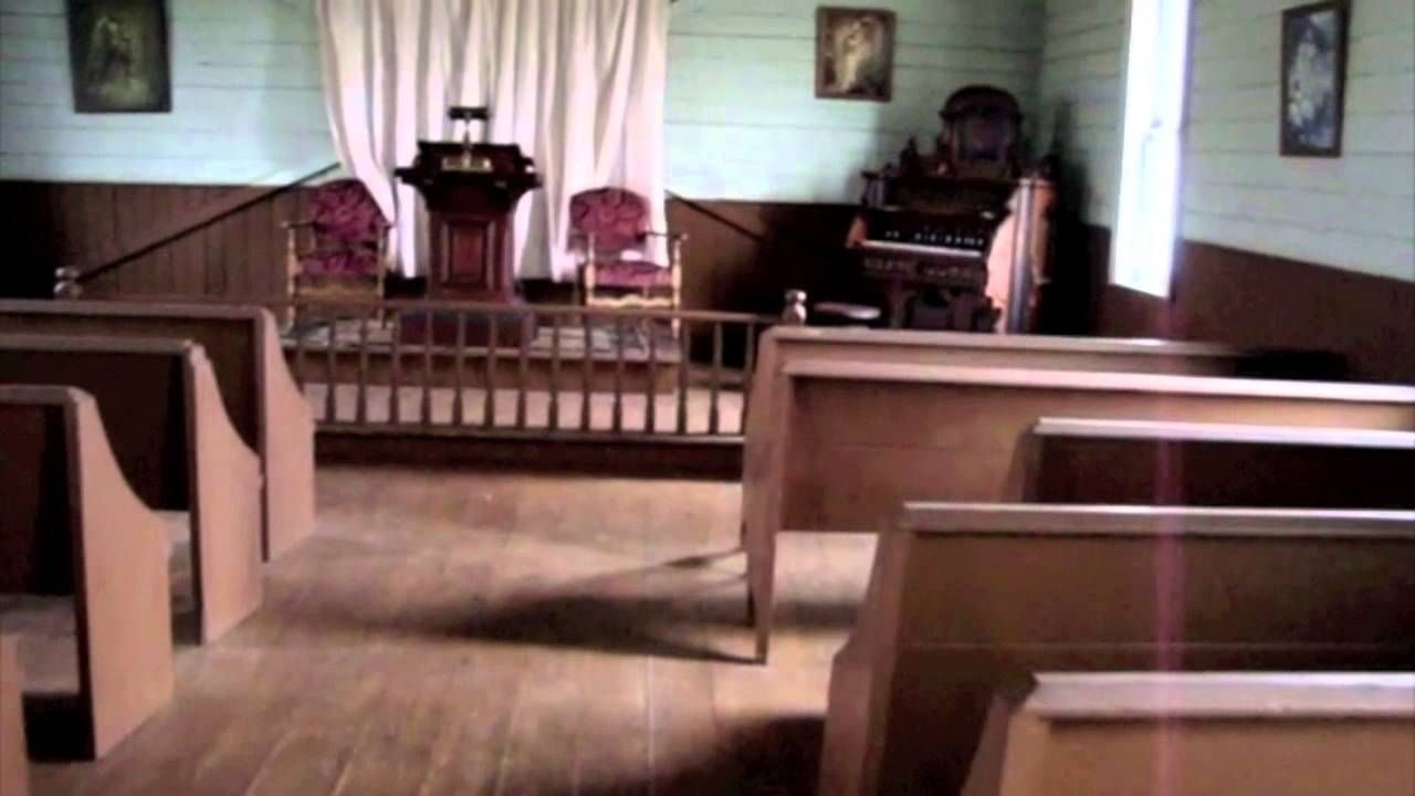 Inside An Old Time Country Church From 1894