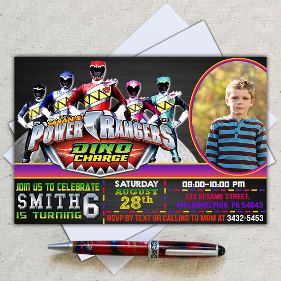 This Is A Power Ranger Birthday Invitation Of Personal Digital - Power rangers birthday invitation template
