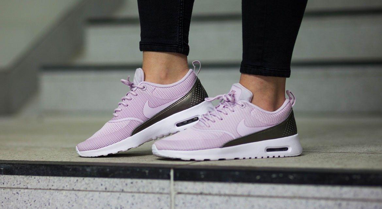 Nike W Air Max Thea Txt Bleached Lilac Air Max Thea White Shoes Women Nike