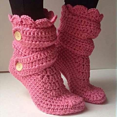 Botitas crochet | sky | Pinterest