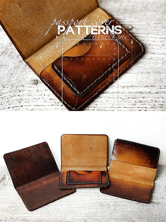 Leather Passport Cover Patterns 26 Page Pdf Design Your Own Leather
