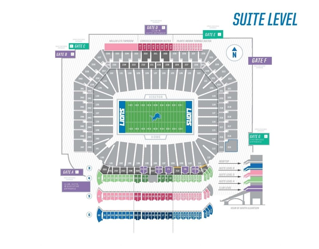 The Amazing And Also Interesting Ford Field Seating Chart Concert Di 2020