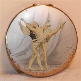 Vintage Stratton Ballet Ballerina Signed Powder Compact Books Worth Reading Stratton Compact