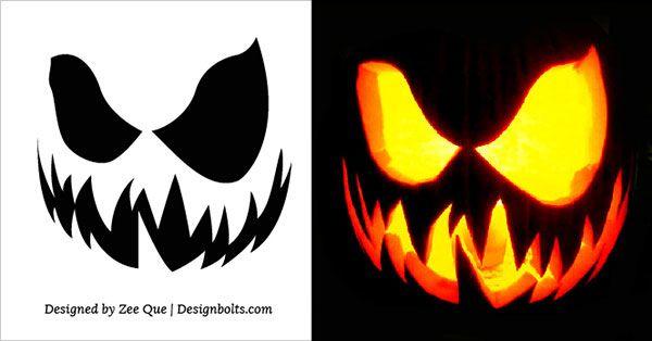 Free Scary Halloween Pumpkin Carving Stencils, Patterns & Ideas 2017 ...