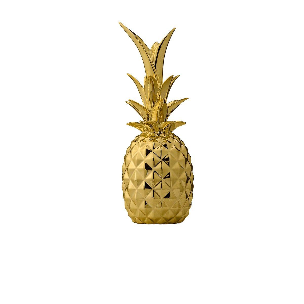 ananas d coratif dor bloomingville gold pineapple ornament gold pineapple et. Black Bedroom Furniture Sets. Home Design Ideas