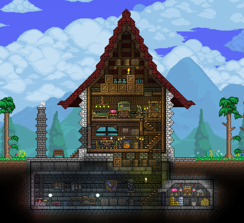 Terrarium Terraria House Design: Neat Little Base 2 : Terraria