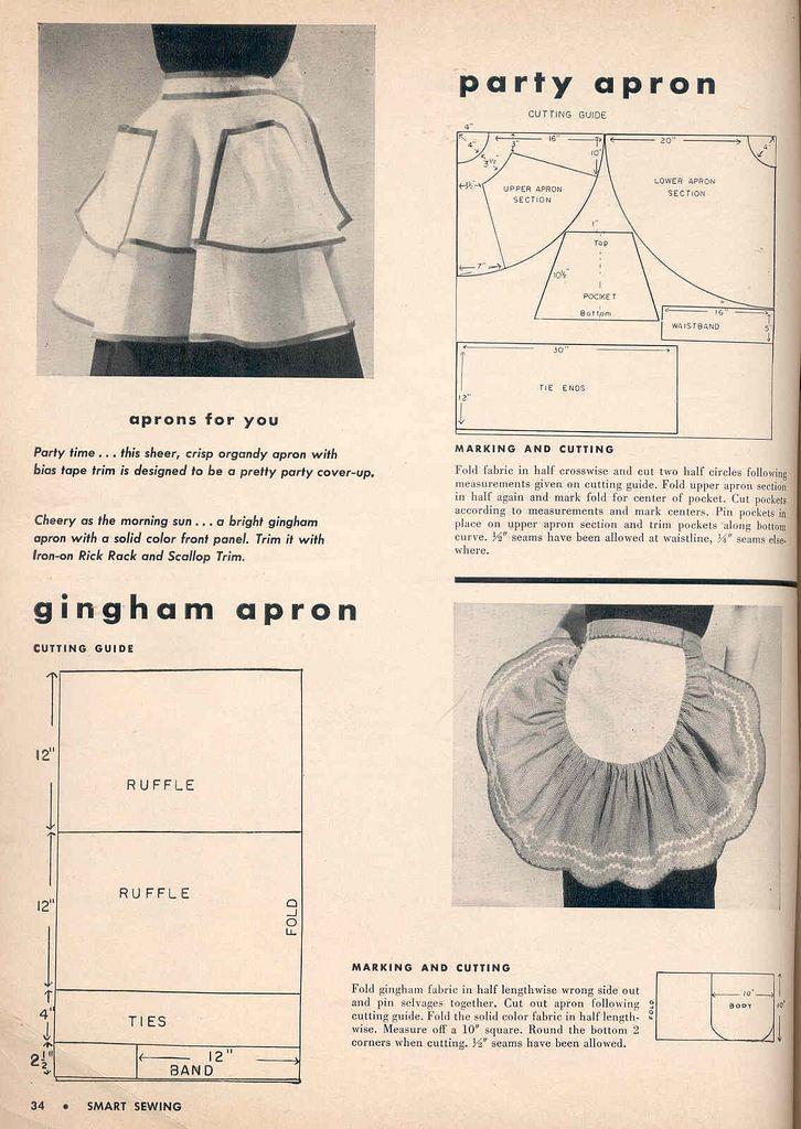 Vintage organdy aprons | Costura