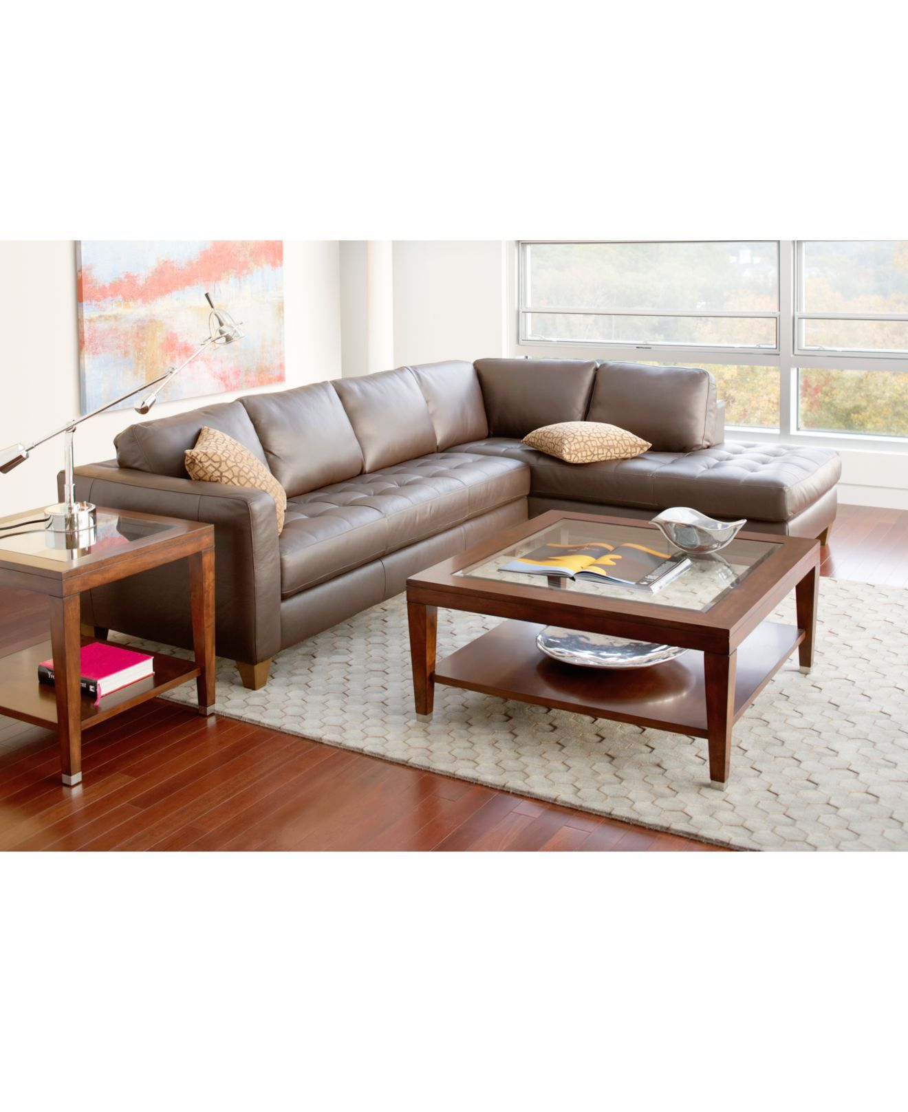 Milano Red Leather Sofa: Milano Leather Living Room Furniture Sets & Pieces