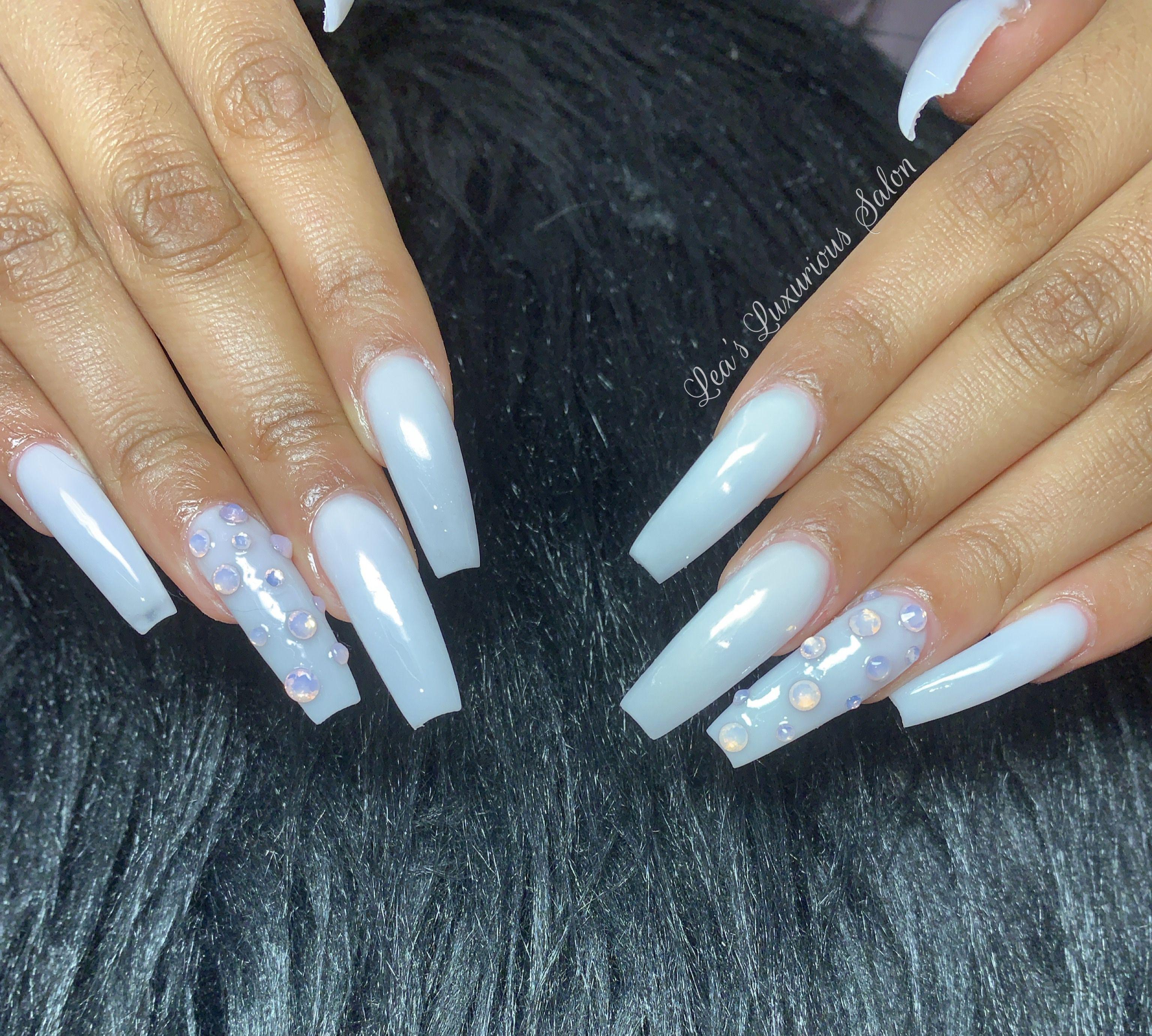 Milk Shaken White Acrylic Nails Nails White Nails