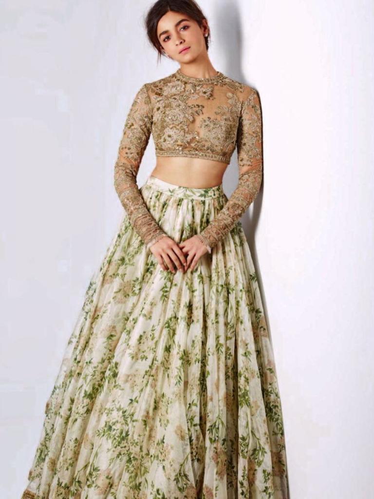 Best dresses to wear to a march wedding  Alia Bhatt in Harperus Bazaar India March   Desi Couture