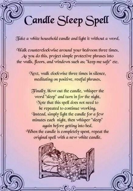 Candle sleep spell | Pagan | Magick spells, Sleep spell