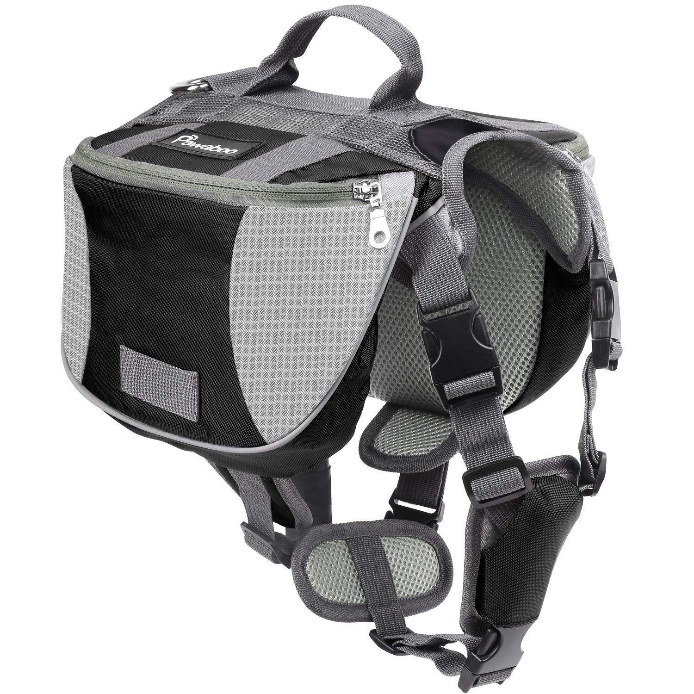 Pawaboo Dog Backpack, Pet Adjustable Saddle Bag Harness