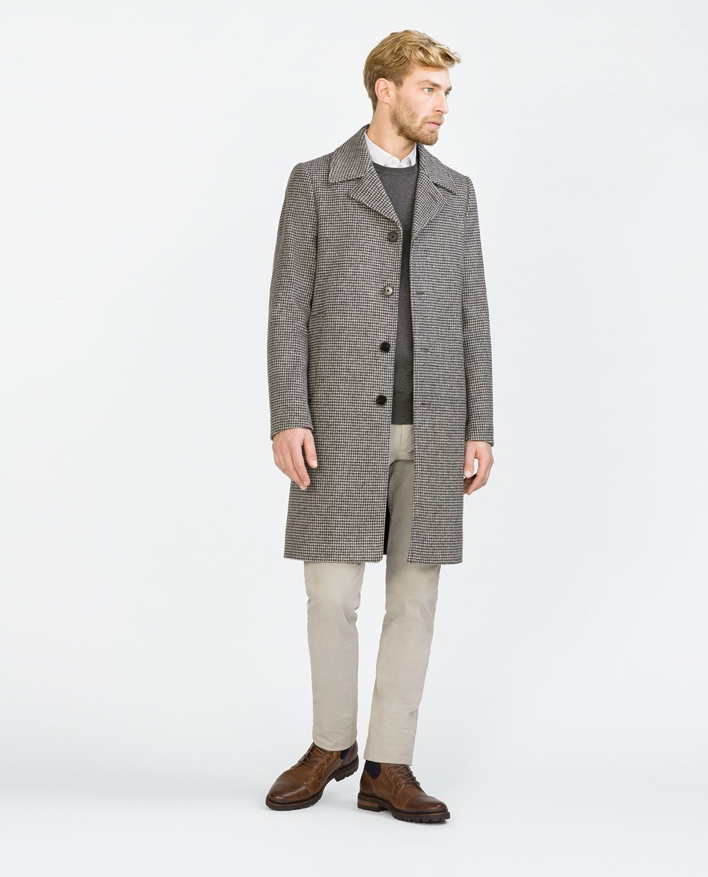 98a77bb0 ZARA - SALE - HOUNDSTOOTH COAT | Mens fashion and stuff ...