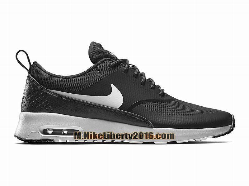 Nike Air Max Thea Chaussures Nike Basketball Pas Cher (Taille Homme) Noir  Blanc cc68ba244f18