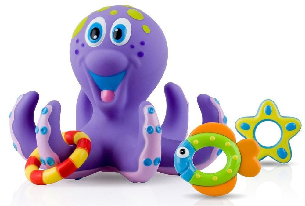 Used Toys For Toddlers : Octopus floating bath toy octopus baby hoopla bathtime fun kids