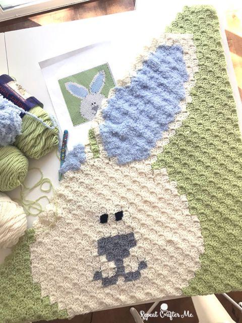 Crochet Bunny C2C Blanket – Repeat Crafter Me – Pixel