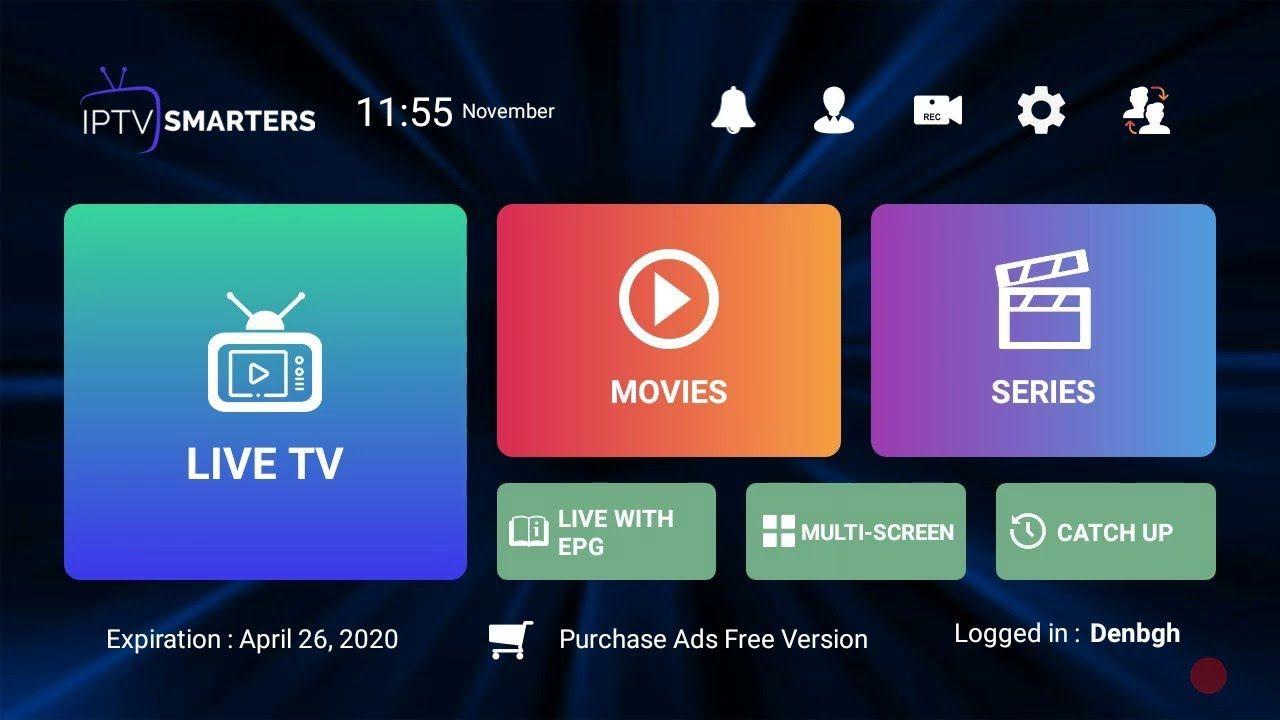 Installer Iptv Smarters Avec Le Meilleur Abonnement Iptv 2020 Stable San In 2020 Smart Tv Android Tv Box Samsung Smart Tv