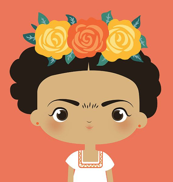 Frida Kahlo Themed Prints For Nursery Baby Shower Or Birthday Party Bright And Beautiful Poster For An Frida Kahlo Art Frida Kahlo Cartoon Cute Illustration