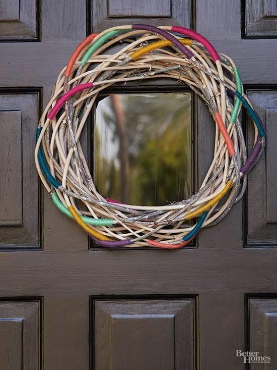 Photo of Learn How to Make a Colorful Twig Wreath