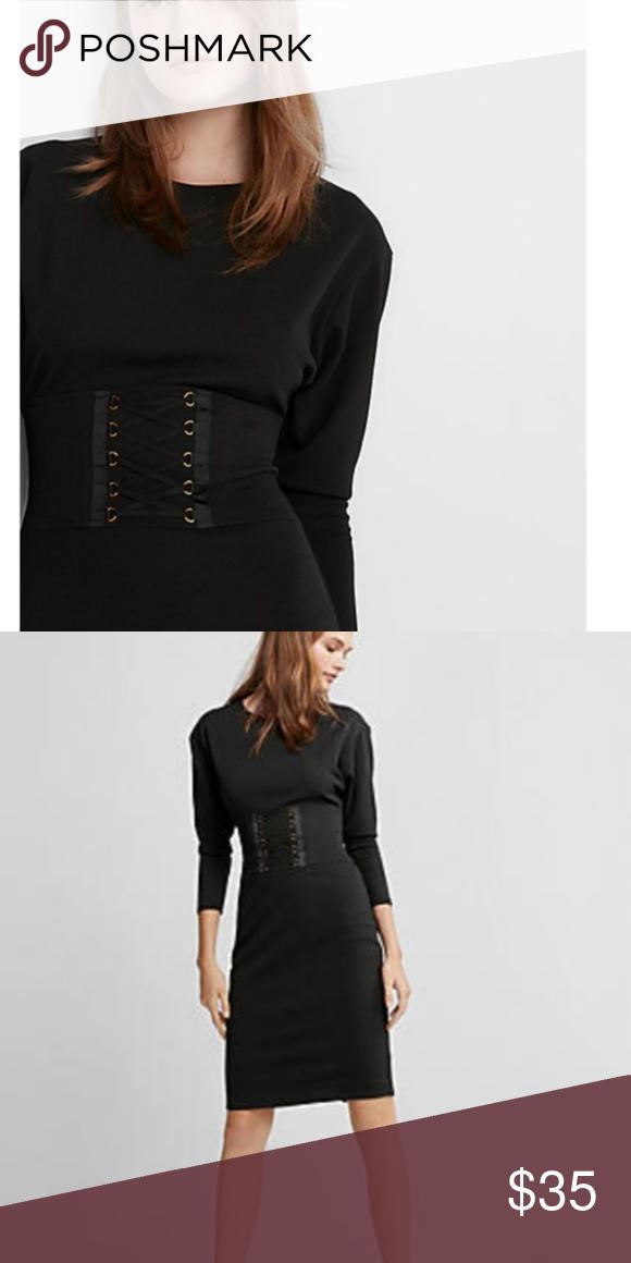 ff1913c0480 Express Black Corset Dress NWT Skirt 41