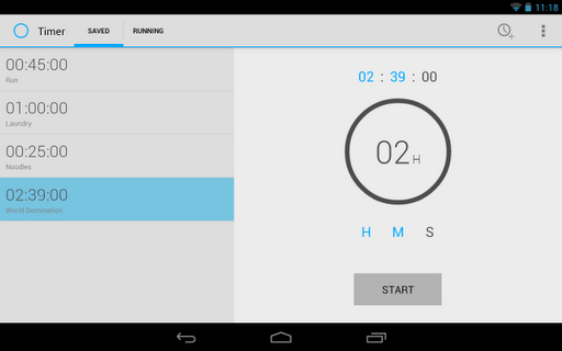 Timer Android app by Opoloo