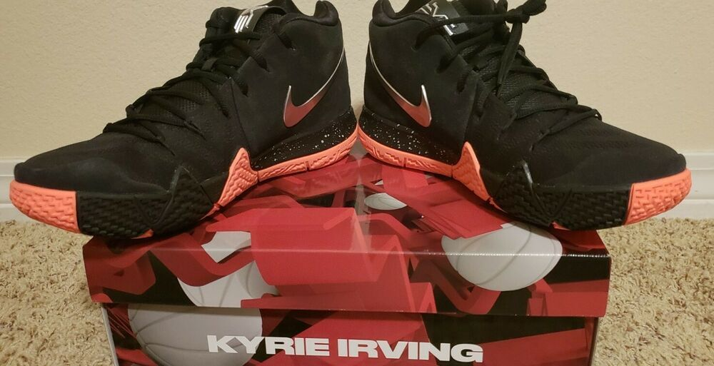 on sale daf48 1783f New Nike Kyrie 4 Black Silver orange Basketball Shoes sz 11  fashion   clothing  shoes  accessories  mensshoes  athleticshoes (ebay link)