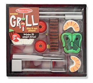 Grill Slice and Sort Playset- Slide-on Grill Lid!