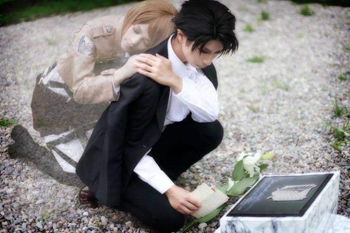 Shingeki no Kyojin - Petra and levi cosplay