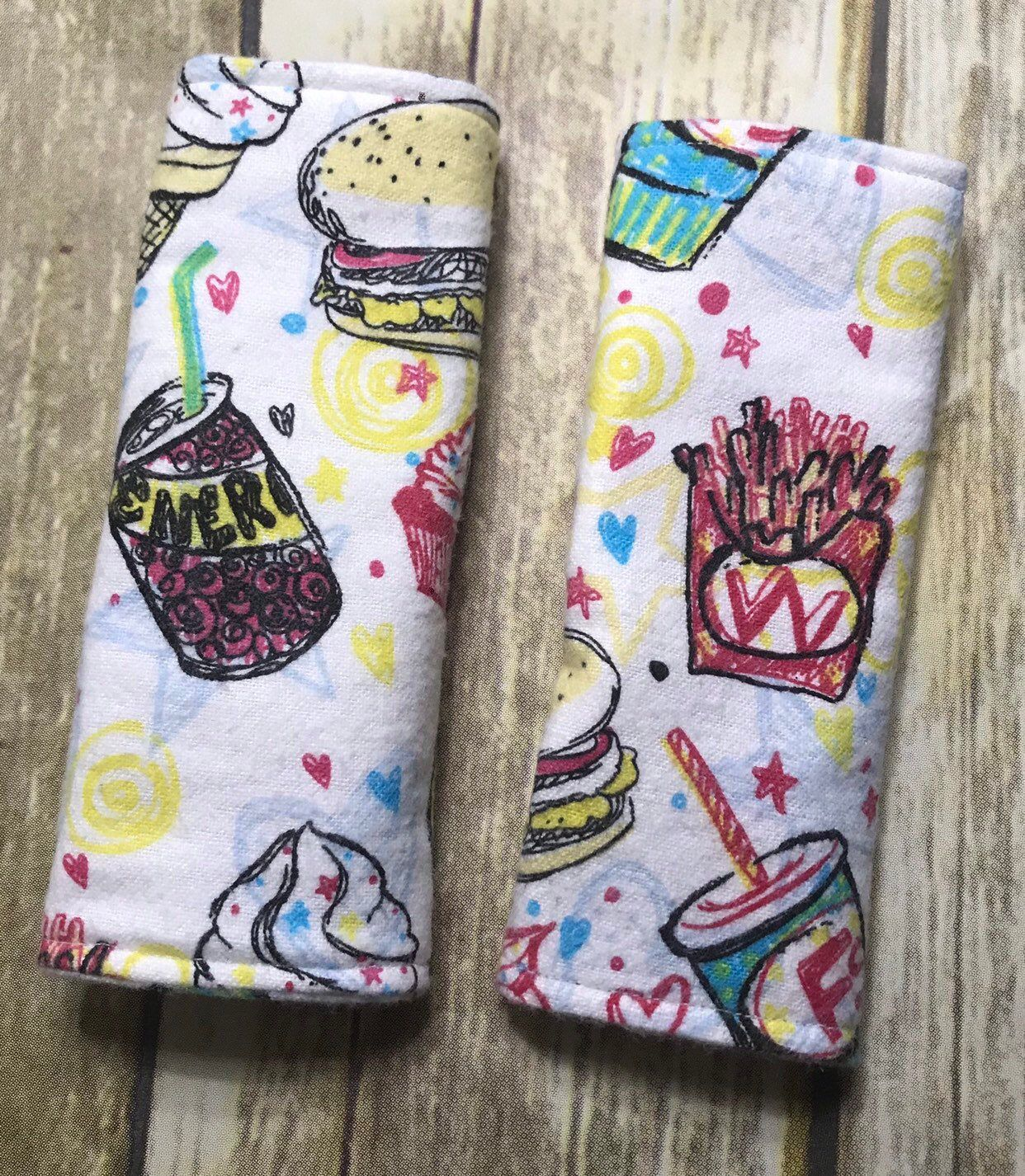 Fast Food Car Seat Strap Covers Stroller Strap Covers