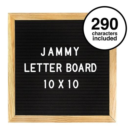Square 10x10 In Black Letterboard With 290 White Letters Numbers And Punctuation Felt Letter Board Felt Letters Letter Board
