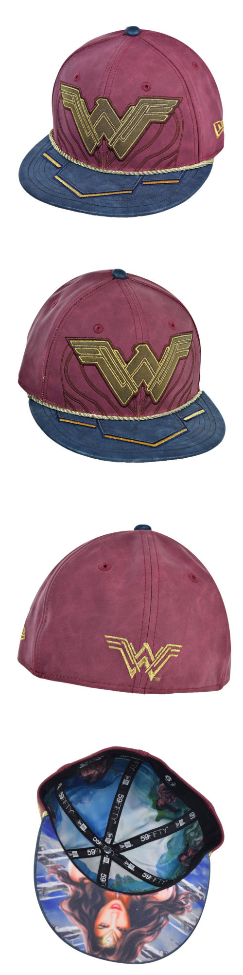 Hats 52365  New Era Wonder Woman Battle Armor 59Fifty Unisex Fitted Hat Cap  Light Red Gold -  BUY IT NOW ONLY   49.95 on eBay! 9a2c0ab363ed