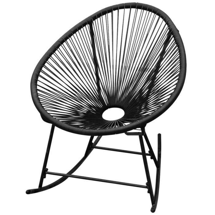 Cette chaise à bascule en forme ovale unique est conçue ...