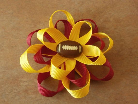 ASU Cheer hair bow gold yellow