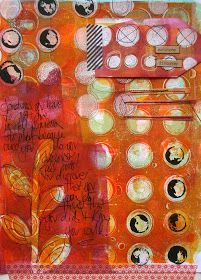 Gelli plate print by Kathryn Wheel
