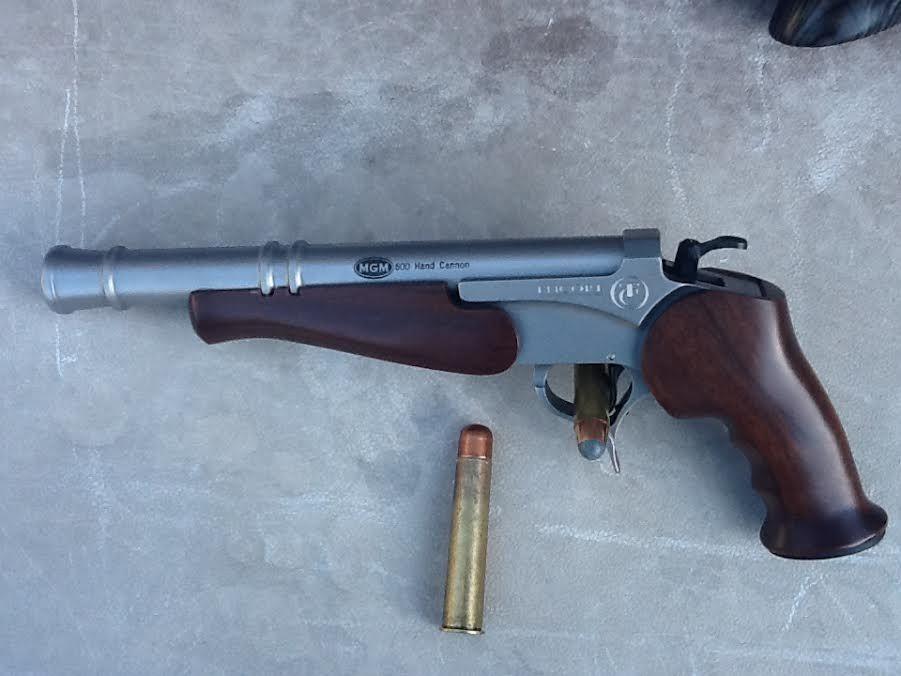 """MGM's custom T/C Barrel 600 NE you made. Hand cannon and Carbine"""" MGM Custom T/C Barrels > www.matchgrademachine.com"""