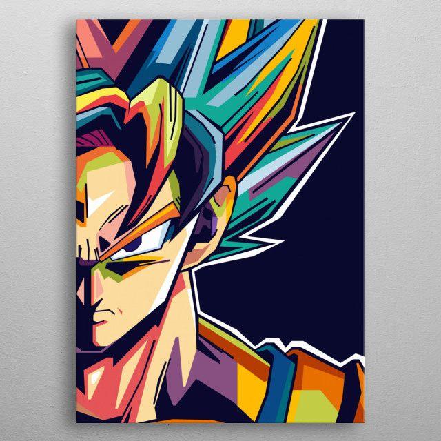 Dragon Ball Super Pop Art Poster Print   metal posters