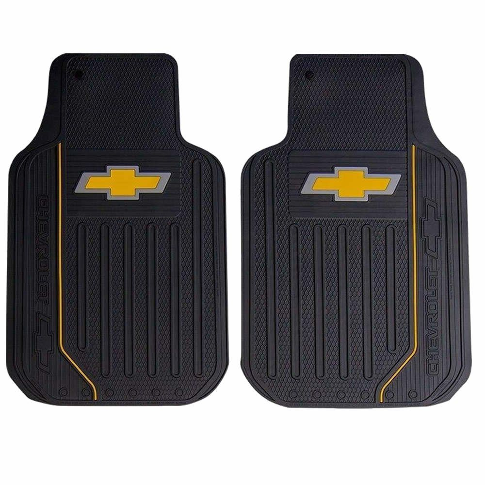 U A A Inc 8pc Chevy Elite Black Seat Covers Rubber Floor Mats