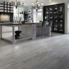 Modern Hardwood Gray Floor Kitchen Design houzzcom 20 Gray