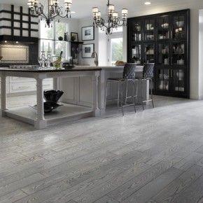 Modern Hardwood Gray Floor Kitchen Design Houzz Com Living Room