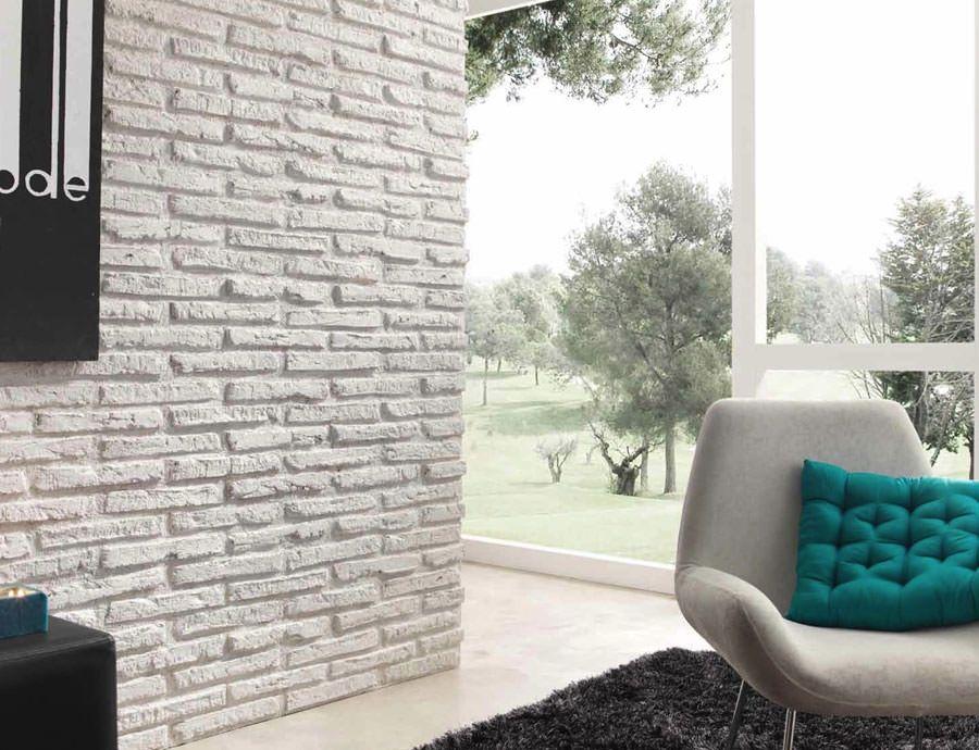 Parete Con Mattoni A Vista Finti : Pareti bianche con mattoni a vista: 25 idee creative decorazioni