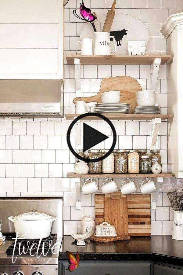 farmhouse style open shelves in the kitchen make sure to read this and get all the tips you on farmhouse kitchen open shelves id=72045