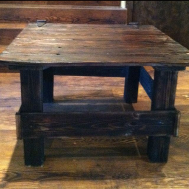 Fantastic Side Table Made From An Old Barn Door An Barn Siding Barn Home Interior And Landscaping Mentranervesignezvosmurscom