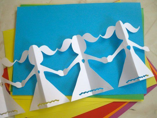 Look!  Paper Doll Chains