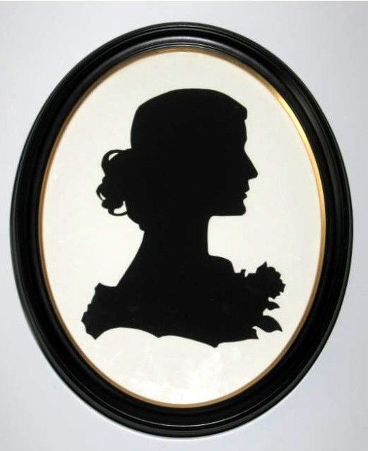 Decorative Victorian Lady Silhouette In 11x14 Wood Oval Frame Via Etsy Silhouette Art Victorian Lady Silhouette