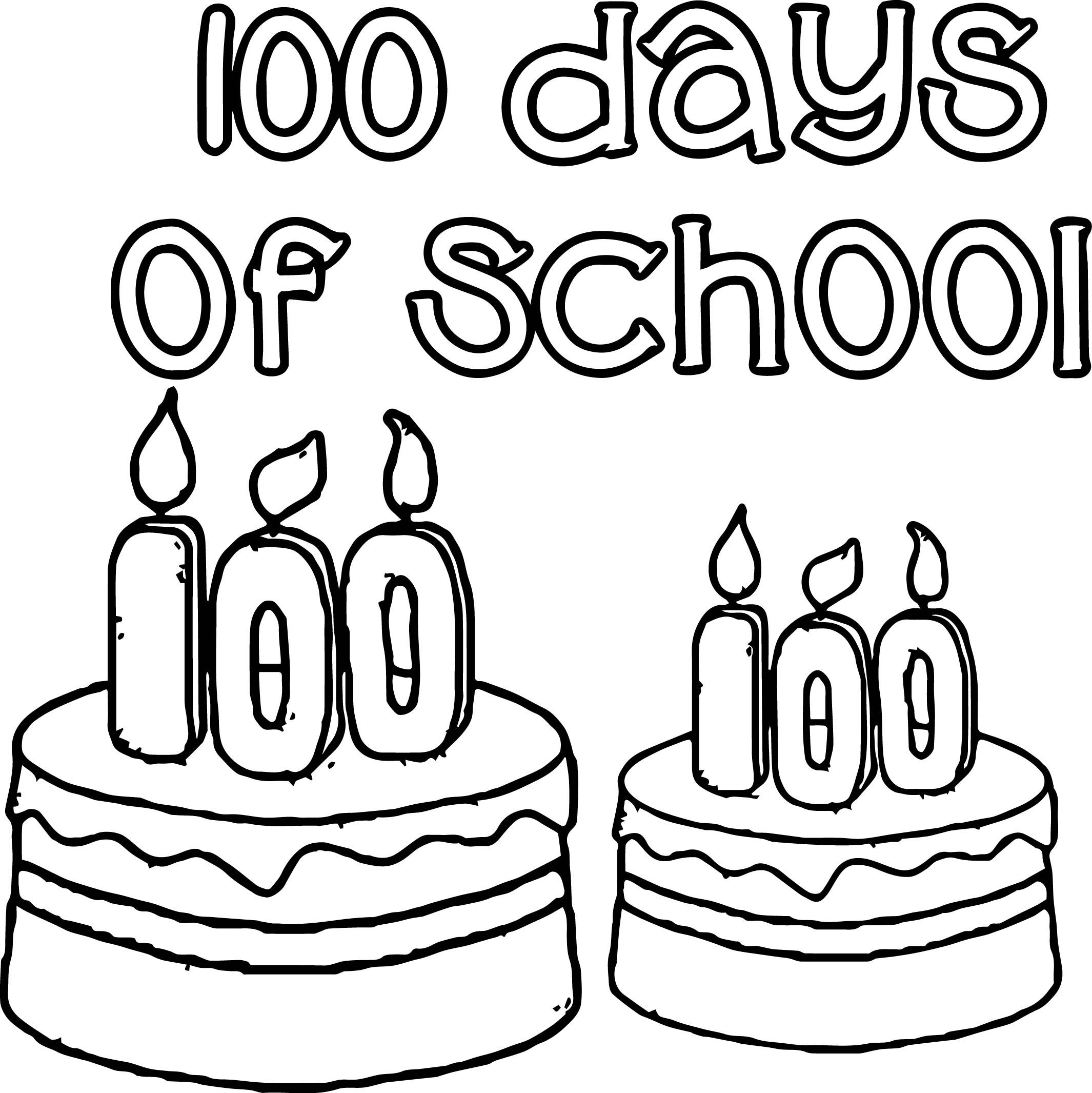 Awesome 100 Days Of School Birthday Coloring Page Birthday