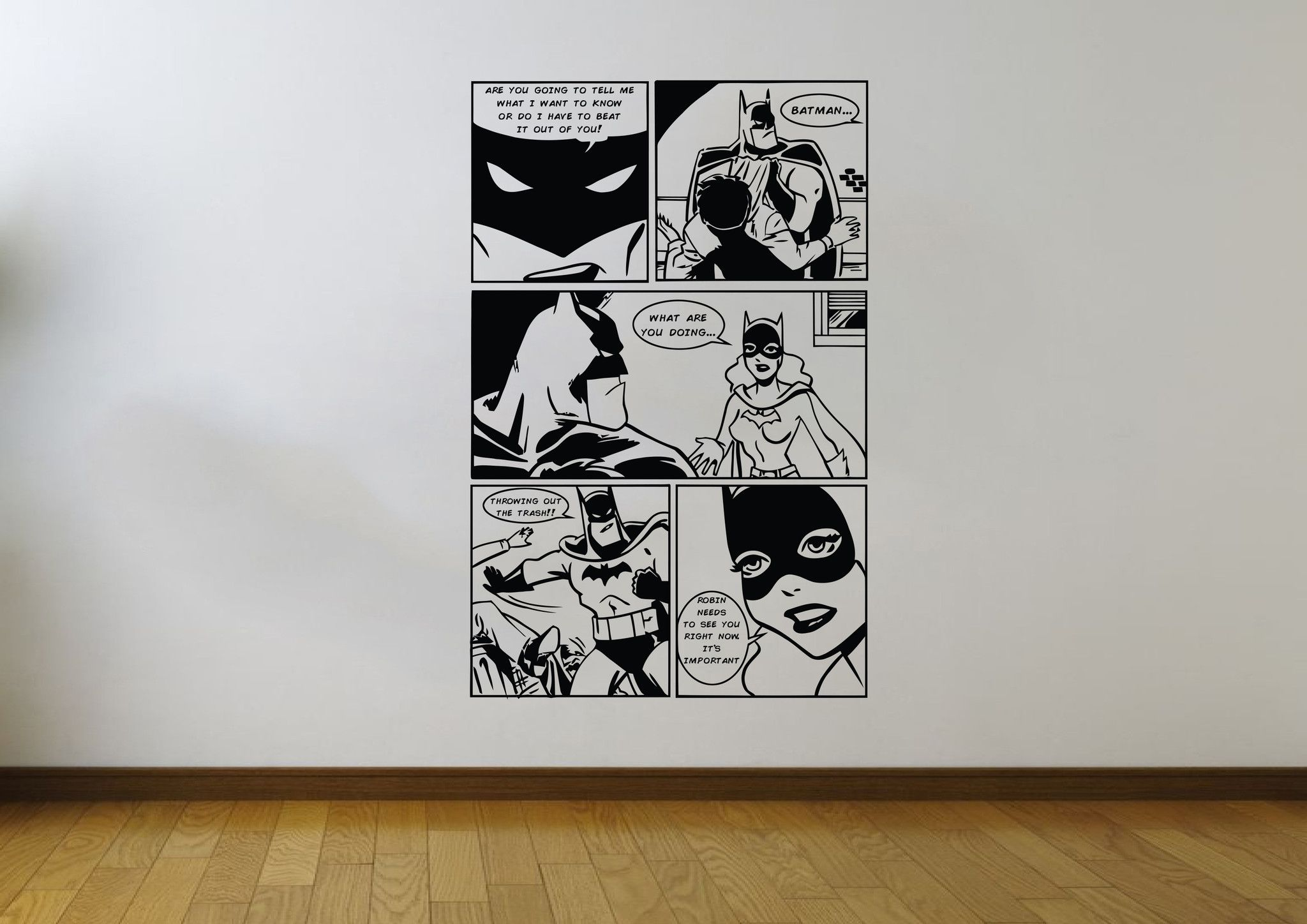 Batman Brave and The Bold Page 2 - 5 Panel Wall Art Stickers - iwallstickers