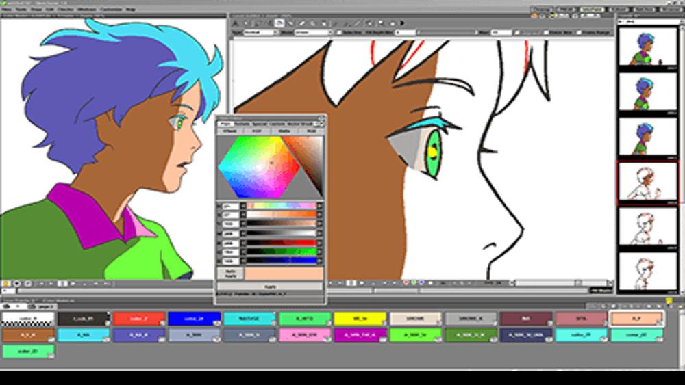 Opentoonz Es Un Software De Animación 2d Que Fue Creado Y Comercializado En 1993 Trabajando En Fut Animation Software Free Disney Concept Art Animated Drawings