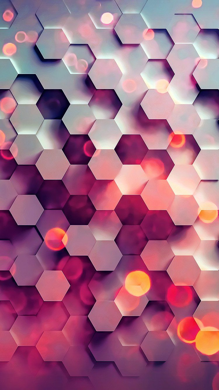 vy42-honey-hexagon-digital-abstract-pattern-background-red