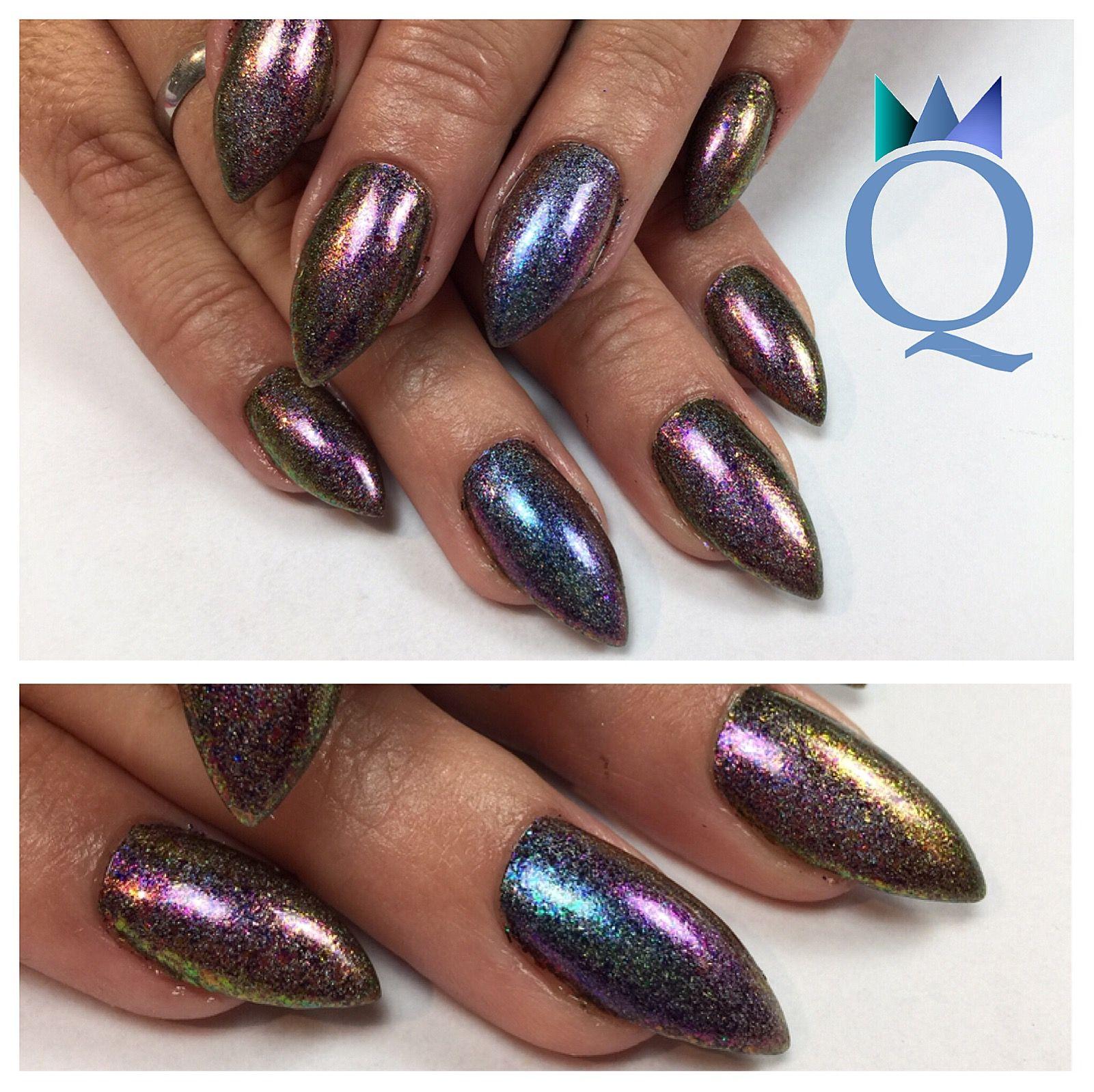 stilettonails #gelnails #nails #holopigment #stilettos #gelnägel ...