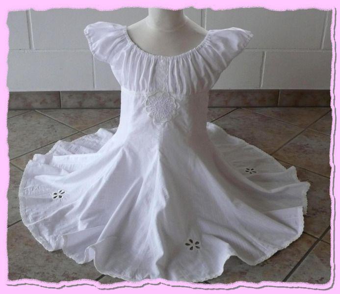 Farbenmix Kleid Elodie Weiss auf DaWanda.com